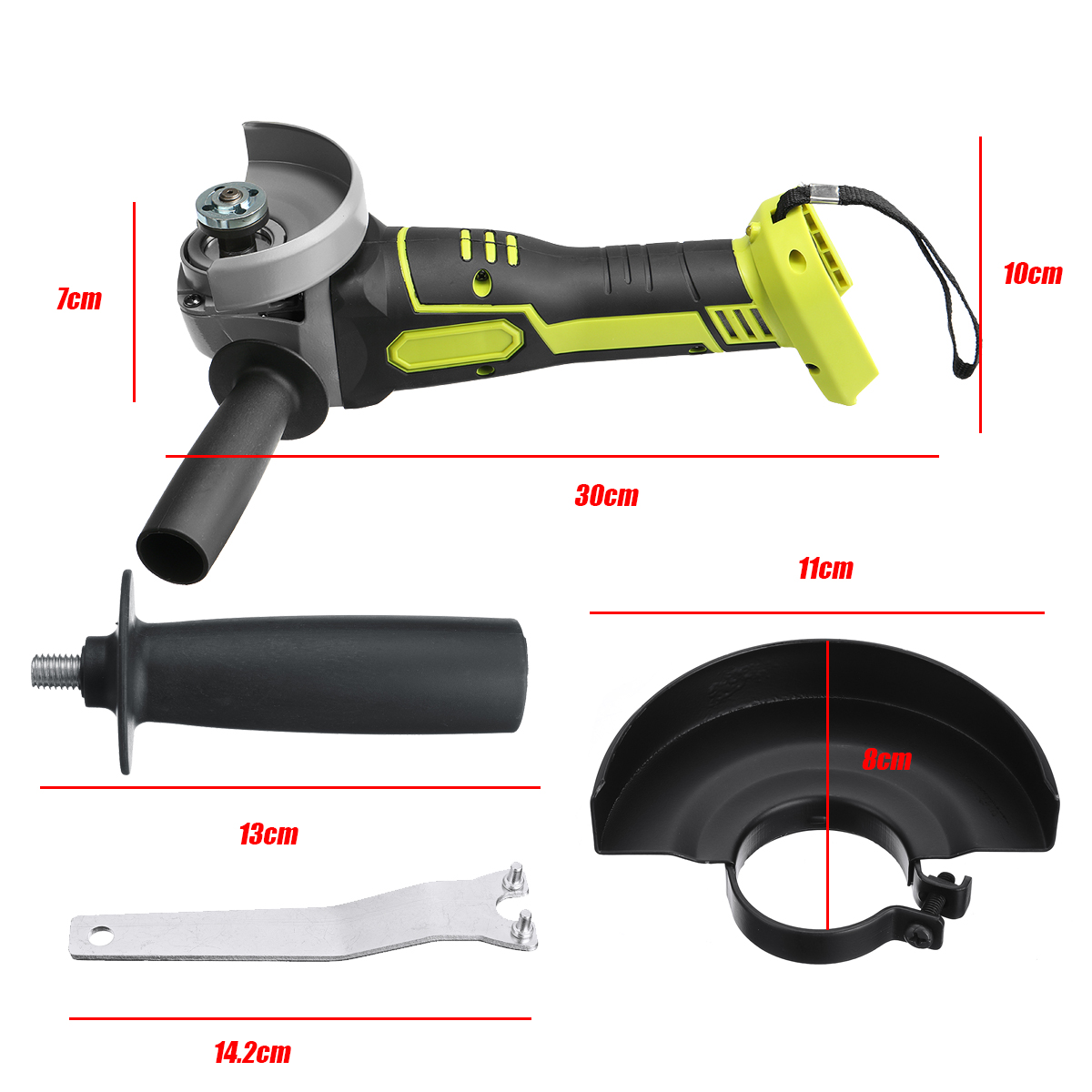 Tools : 100mm 125mm Brushless Cordless Angle Grinder Variable 4 Speed Grinder Machine For 18V Makita Battery Without Battery