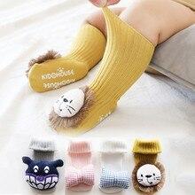 Baby Socks Floor Non-slip Cotton Cartoon Newborn Socks 3D Lion/bow 2020 Autumn Winter Baby Girls Boys Soft Warm Cute Boots