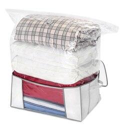 Grande Capacidade de Saco de Vácuo do Agregado Familiar Edredons Cobertores Pacote Selo Protetor De Espaço Comprimido Saco para Roupas Blanket Quilt