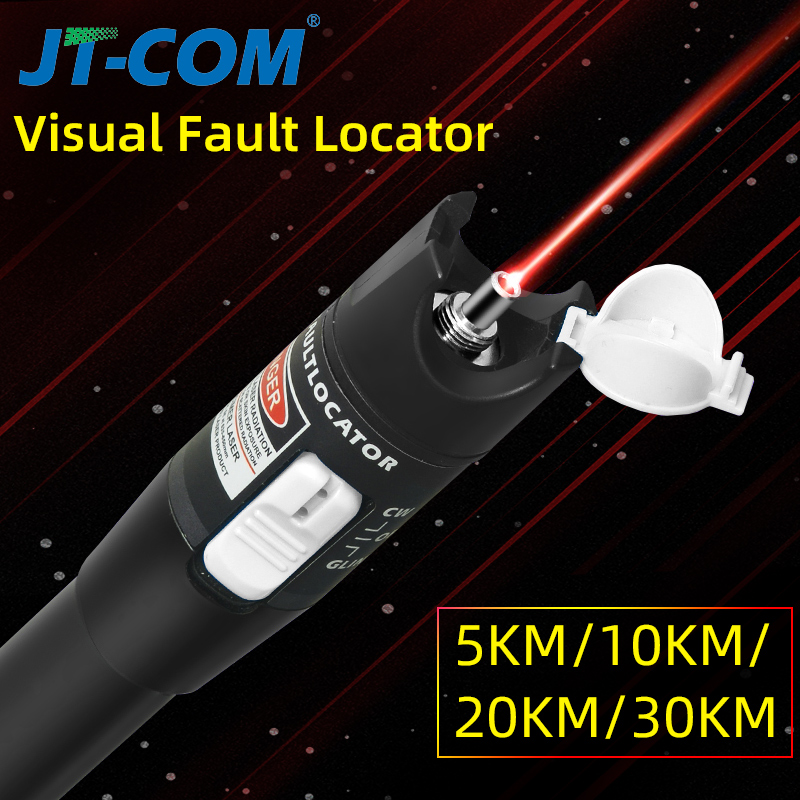 30mW FTTH Fiber Optic Tester Pen Type Red Laser Optical FiberLight 10mW Visual Fault Locator  Optical Cable Tester 10-30Km Range