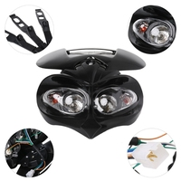 Universal Motocross Headlight Fairing Head Lamp High / Low Beam Dual