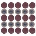 100 шт. шлифовальный диск для Roloc 50 мм 40 60 80 120 зернистость шлифовальный бумажный диск шлифовальный круг абразивные роторные инструменты аксес...