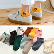 1 пара женских носков; коллекция года; сезон весна-лето; женские носки из хлопка с милым рисунком и вышивкой; Модные женские носки для девочек в Корейском стиле
