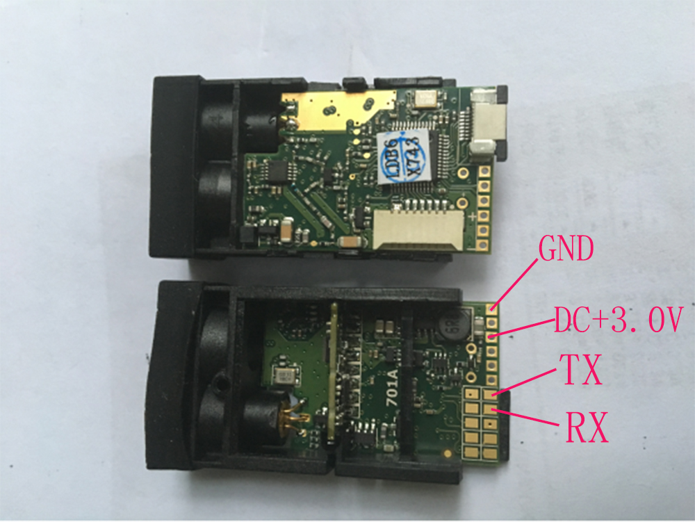 50m Laser Ranging Module Sensor TTL Level Serial Port RS232 Secondary Development Connected To A Microcontroller