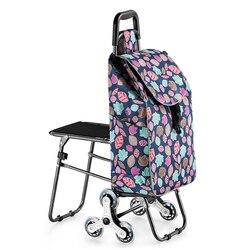 Carrito de ruedas de carritos de compras para mujer, cesta de la compra, bolsa de la compra para el hogar, carrito de remolque, carro portátil plegable