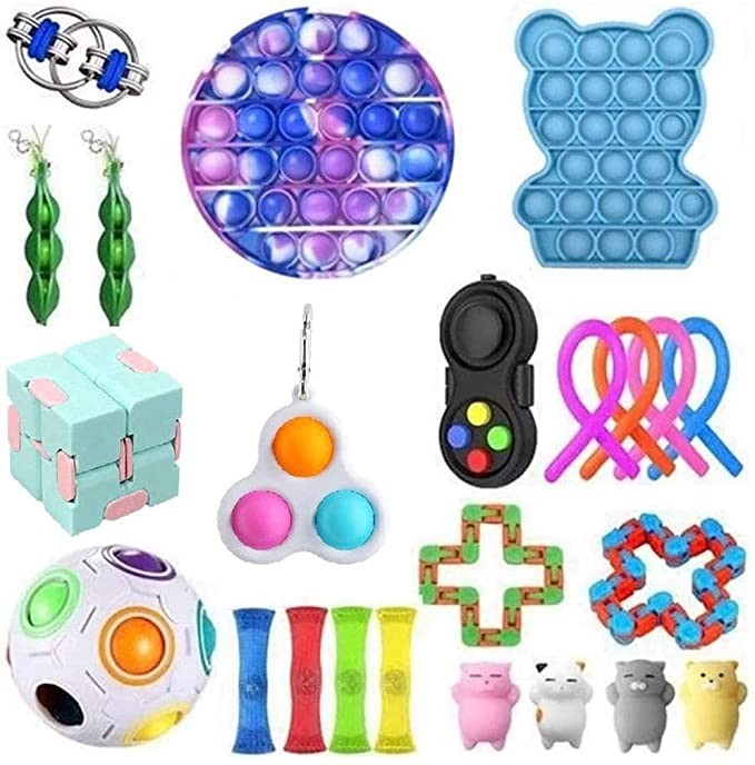 A Pack Fidget Sensory Toy Set Stress Relief Toys Autism Anxiety Relief Stress fidjets img3
