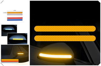 2PCS car sticker rearview mirror reflective strip Auto parts for Infiniti G37 FX50 FX37 FX35 Essence EX37 image