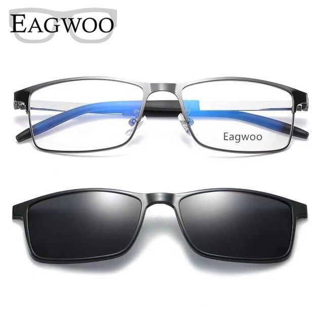 Magnet Eyeglasses Full Rim Optical Frame Prescription Metal Alloy Spectacle Men Myopia Eye Glasses Multi Use Sunglasses 996