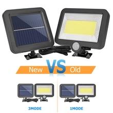 цена на 3 Modes Motion Sensor Solar Light garden outdoor lighting Waterproof COB 100 LED yard garage security light solar wall lamp