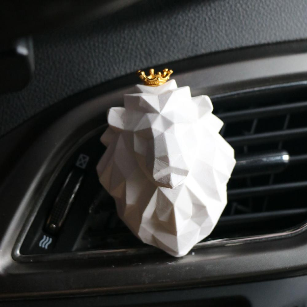 1 PCS Creative Lion Head Shape Car Air Freshener Cool Auto Fragrance Perfume Smell Car Diffuser Vent Clip Scent Refill for Car