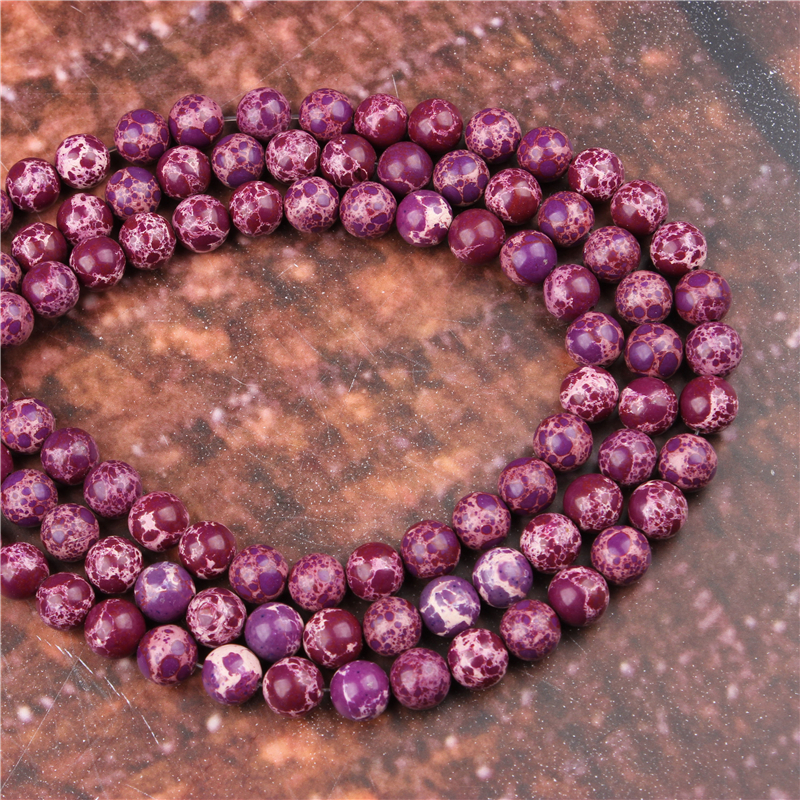 Diy 4//6//8//10//12mm Natural Stone Purple Tiger/'s Eye Round Beads fit bracelet
