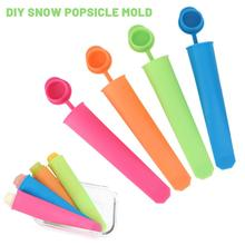 4pcs Silicone Ice Stick Molds With Lid Ice Cream Maker DIY Summer Frozen Ice Cream Mold Kitchen Tools Popsicle Maker Lolly Mould silicone ice stick molds form for ice cream maker diy summer frozen ice cream mold kitchen tools popsicle maker lolly mould new