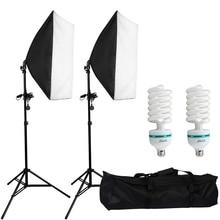 2pcs 50x70CM Photography Softbox Studio Continuous Lighting Kit 135W Bulb for Photo Studio Portraits Photography Video Shooting