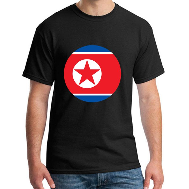 Cute Flag North Korea t-shirt big size s~5xL Short-Sleeve awesome Leisure women tee t shirts O-Neck Natural image