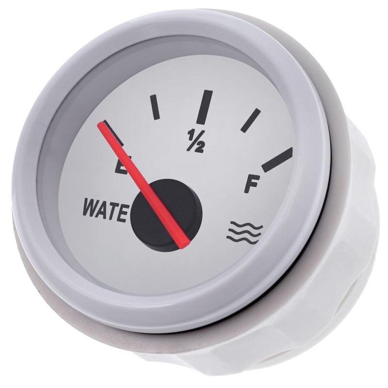 52mm Marine Car Water Level Gauge 0-190ohms Stainless Steel Boat Water Tank Level Indicator Gauge 9-32V 2
