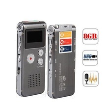 Brand N28 Rechargeable 8GB Mini USB Flash Digital Audio Sound Voice Recorder 650Hr Dictaphone Dictaphone MP3 Player Black color