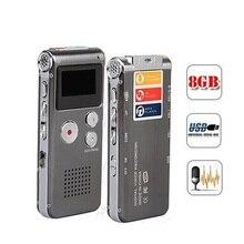 브랜드 n28 충전식 8 기가 바이트 미니 usb 플래시 디지털 오디오 사운드 보이스 레코더 650hr 딕 터폰 딕 터폰 mp3 플레이어 블랙 컬러