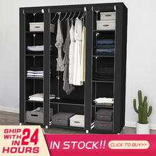 Portable Fabric Folding Wardrobes Clothes Closet Storage Cabinet Home Bedroom Furniture Organizer Fast Delivery Easy Install HWC