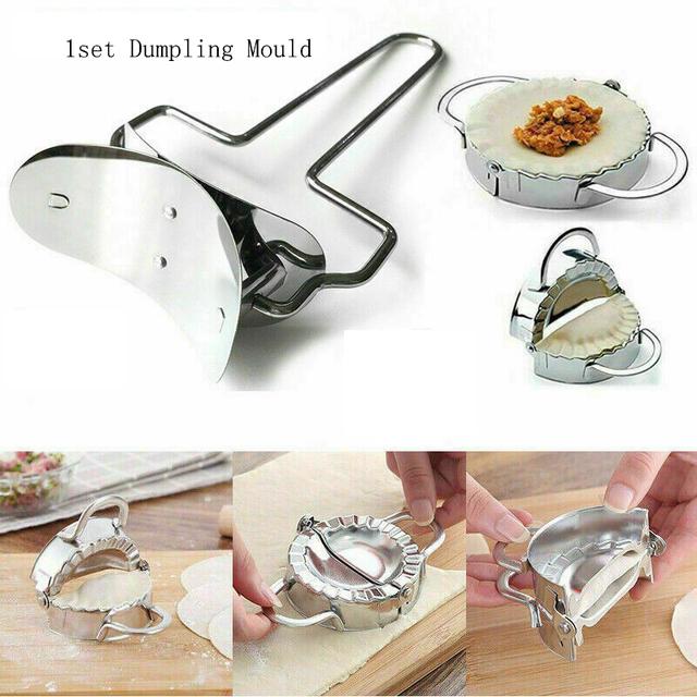 2pcs Stainless Steel Dumpling Maker Wraper Dough Cutter Pie Ravioli Dumpling Mould Kitchen Product Cutting Tools Cooking Tools
