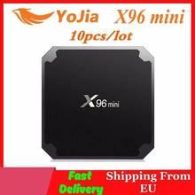 (Envío rápido desde la UE) TV BOX X96 mini con Android 7,1, lote de 10 unidades, Amlogic S905W, Quad Core, reproductor multimedia, wi fi 2,4 GHz