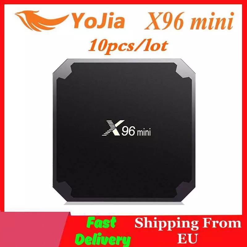 Fast Ship From EU   10pcs lot X96mini Android 7 1 TV BOX X96 mini lot Amlogic S905W Quad Core Media Player 2 4GHz WiFi