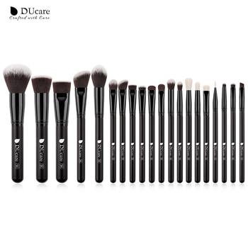 DUcare  Black Makeup brushes set Professional Natural goat hair brushes Foundation Powder Contour Eyeshadow make up brushes - 20PCS Brushes, Russian Federation