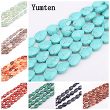Yumten Pear Turquoise Beads 8mm*13mm Natural Stone Bead DIY Beaded Necklace Accessories  Rose Quartz Jasper Topaz Jewelry Making