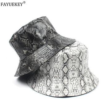 2020 kapelusz na lato kobiety mężczyzna Panama kapelusz typu bucket wąż drukowany wzór parasolka wędkarstwo rybak Bob kapelusz Chapeu Femmes Hip Hop tanie i dobre opinie COTTON Dla dorosłych Unisex Mieszkanie Stałe HF20022802 Wiadro kapelusze Na co dzień