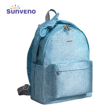 Sunveno Baby Daper Bag Lady Backpacks USB Large Capacity Waterproof Nappy Bag Mummy Maternity Travel Backpack Baby care(China)