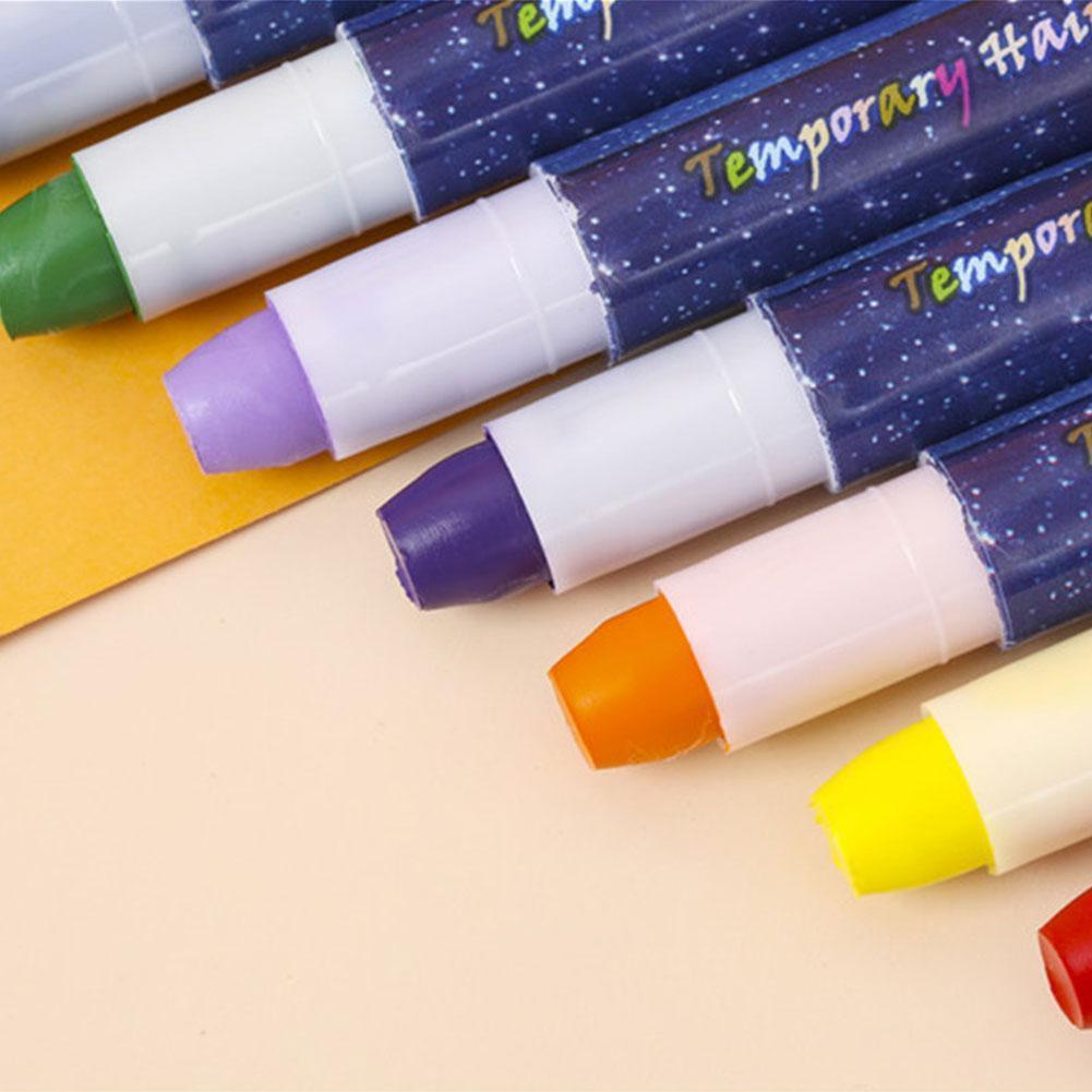 10 Color Temporary Hair Dye Chalk Crayon Hair Dye Set Boxes Disposable Dye 10 Flashing Colors Of 3 Hair Dye Pen Of Hair + B5Z4