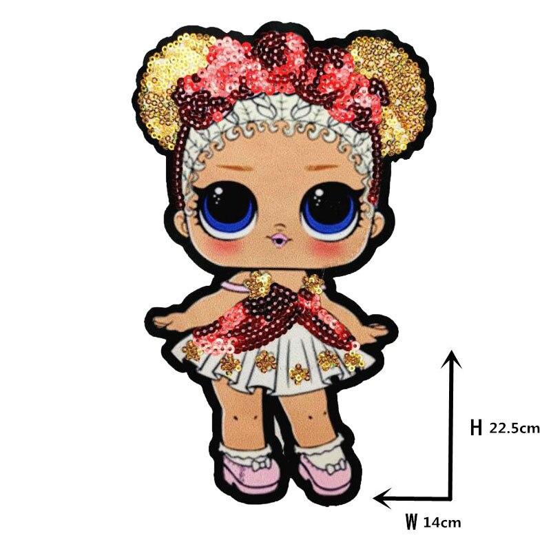 Мультяшные нашивки женские модные куклы лол для девочек Милая Модная Кукла-мальчик вышивка на одежду ручная работа украшение одежды Блестки Ткань - Цвет: WW-3