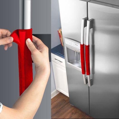 Official new Hot Sale 2 PCS Kitchen Appliance Handle Cover Decor Smudges Door Refrigerator Fridge Oven