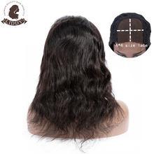Liddy – perruques 100% naturelles non-remy, cheveux humains ondulés, couleur naturelle, 150% de densité, 4x4, pour femmes africaines