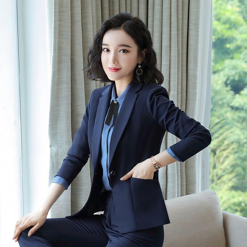 Women Suits Office Sets New Style Ladies Business Wear Long Sleeve Suit Pants Suit Business Workwear Fashion 2piece Set Women