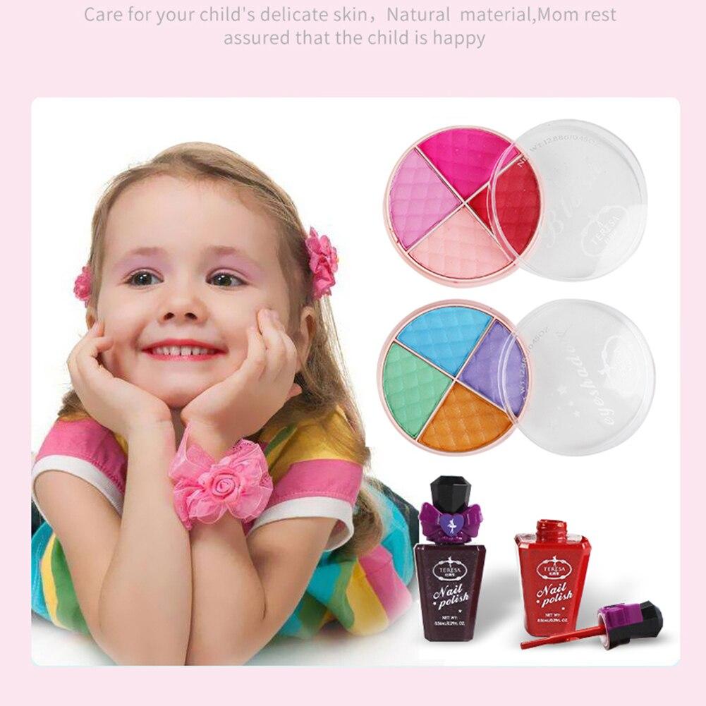 Детский косметический набор для ролевых игр, палитра теней для макияжа, лак для ногтей, бальзам для губ, косметическая пудра для детей, подар... - 2