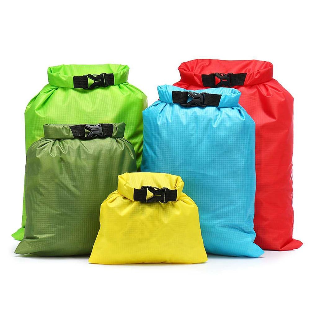 5 PCS Waterproof Bag Set Storage Roll Top Dry Bag Set For Skating Camping Boating Sailing Surfing Fishing Kayak Accessories