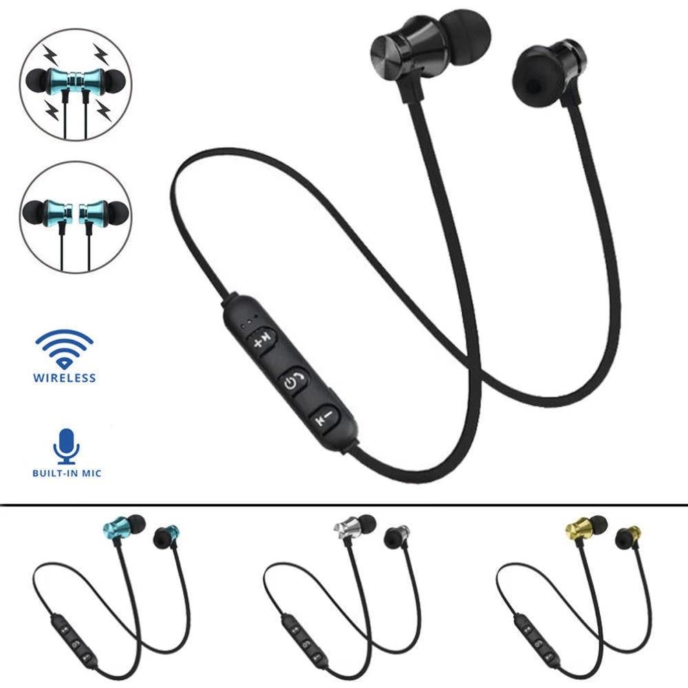 Wireless Earphones Magnetic Bluetooth Headset Waterproof Sport Headphone For Xiaomi Redmi Note 8 Pro Umidigi F2 A5 Pro Power 3 Bluetooth Earphones Headphones Aliexpress