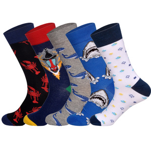 Image 2 - Lionzone 5 Paren/partij Merk Mannen Sokken 60 Kleuren 12 Selecteert Britse Stijl Streetwear Designer Gelukkig Sokken Grappig Met Geschenkdoos
