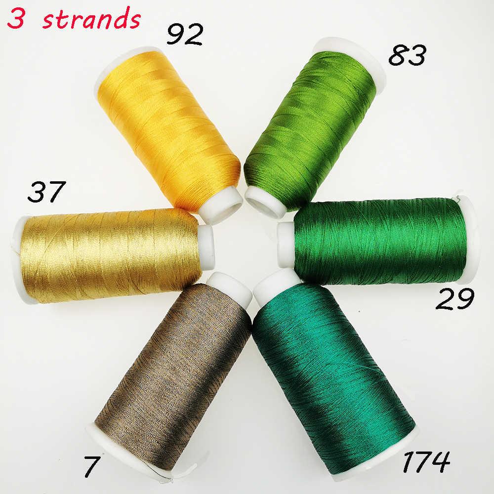 Sanbest 3 нити металлическая нить для наращивания блестящих ювелирных нитей ручной работы DIY браслет строчка нить плетение пряжа