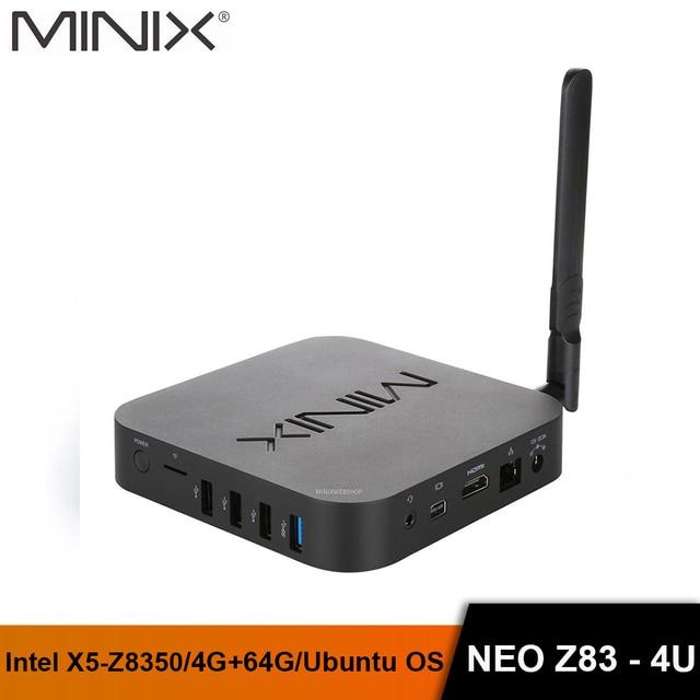 MINIX NEO Z83   4U Intel Atom X5 Z8350 Ubuntu Mini PC 4GB/64GB HDMI+MINI DP Dual Band WiFi Gigabit LAN Bluetoot Portable MINI PC