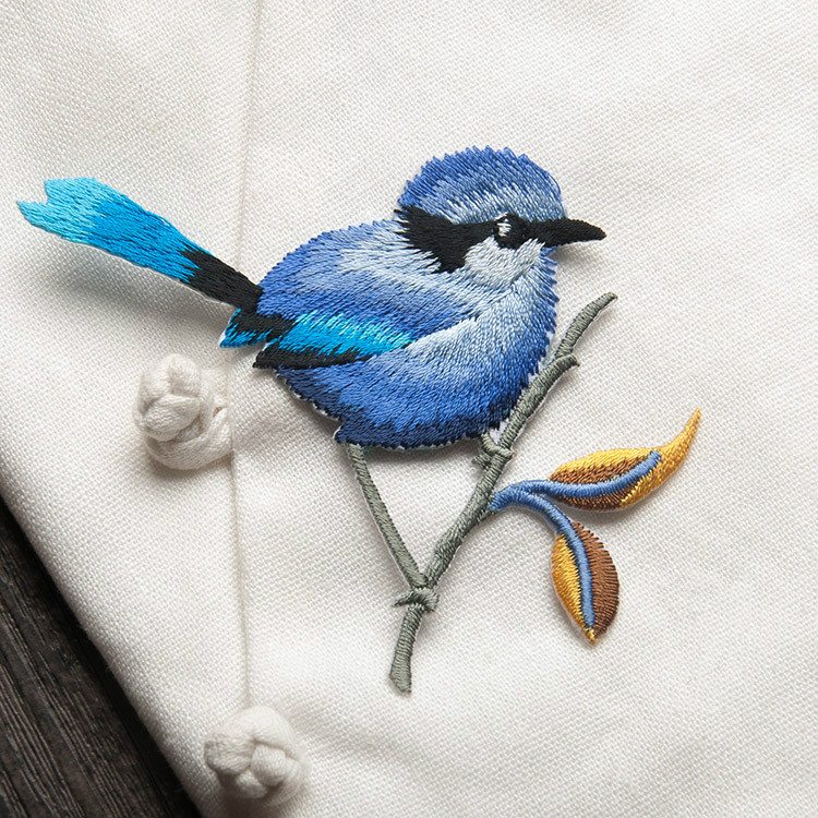 Bird Iron on Patches for Clothing Animal of The Breach Embroidery Applique DIY Hat Coat Dress Bird Iron on Patches for Clothing Animal of The Breach Embroidery Applique DIY Hat Coat Dress Pants Accessories Cloth Sticker