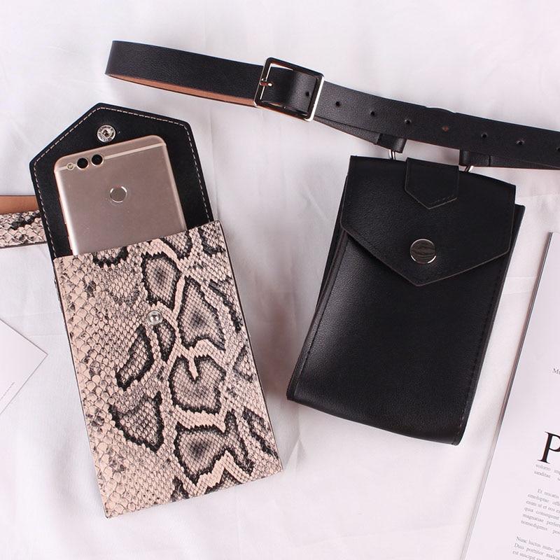 Vertical Belt Bag Ring Decorate Hanging Bag Inclined Shoulder Bag Mobile Phone Bag Fashion Woman Package