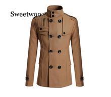 2020 New Men's Mao Wool Overcoat for Male Long Suit Woolen Windbreaker Men's Coat Outer  Wear Clothing