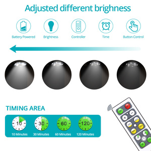 LED Under Cabinet Light For Battery Wardrobe / Closet Puck Kitchen Light with Controller Dimmable RGB + Natural white Night Lamp
