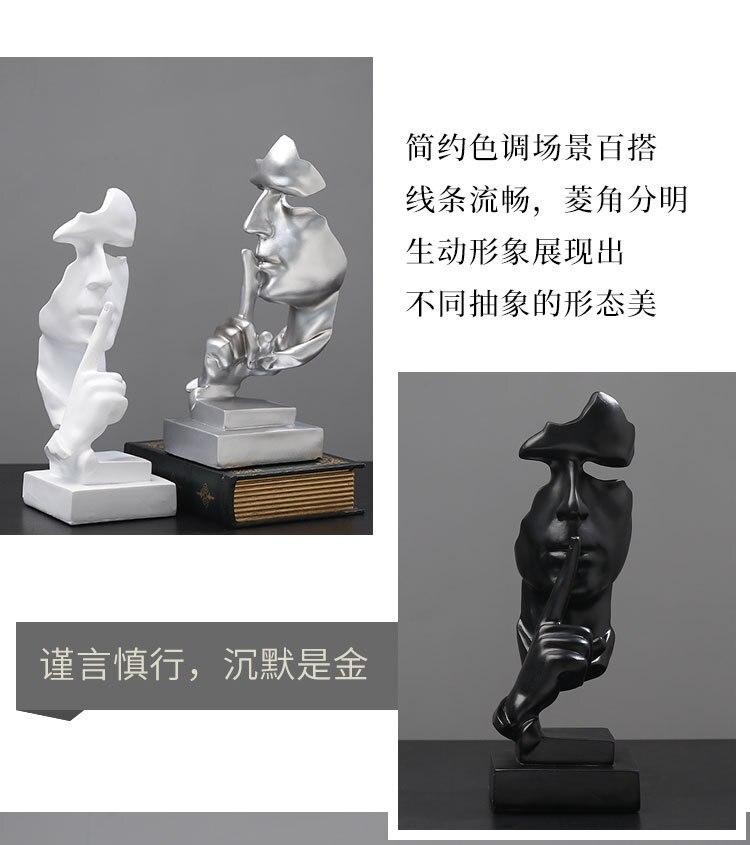 Abstracto rosto resina figura estátua artesanato escultura