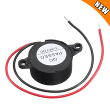 Звуковой сигнал 95 дБ, Электронный непрерывный сигнал постоянного тока 3-24 в 12 В, для автомобилей и микроавтобусов