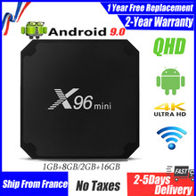 Best IPTV BOX x96 mini qhdtv android 9.0 Smart tv box 4K Amlogic S905W 1G 8G 2G 16G smart ip tv set top boxes ship from france