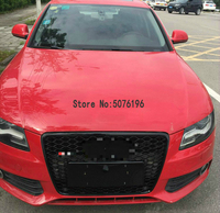A4 B8 Matt Silver Frame Front Bumper Mesh Grill Grilld For Audi A4 S4 RS4 2009 ~ 2012