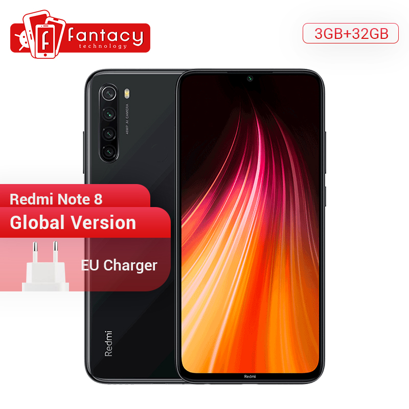 In Stock Global Version Xiaomi Redmi Note 8 3G 32G 48MP Quad Camera Smartphone Snapdragon 665 Octa Core 6.3