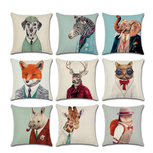 1Pc Soft Cute AnimalDecorative Square Throw Pillow Covers Set Cushion Case for Sofa Bedroom Car 18 x 18   Inch 45 x 45 cm цены